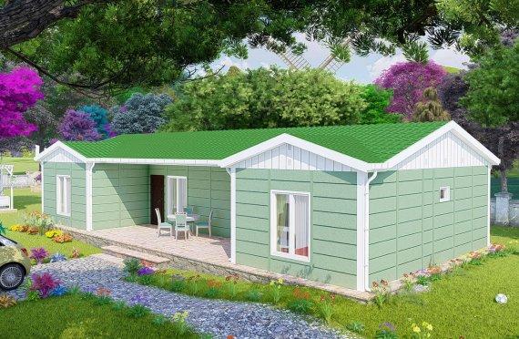 102 m2 Case Modulare cu Camere Twin