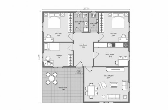 123 m2 Case Modulare de Vară