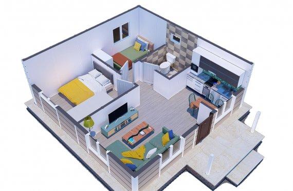 45m2 case modulare cu un singur etaj nostalgia