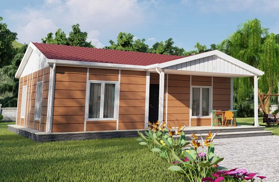 75 m2 Case Modulare cu Verandă