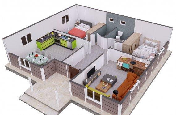 95 m2 Vile Modulare