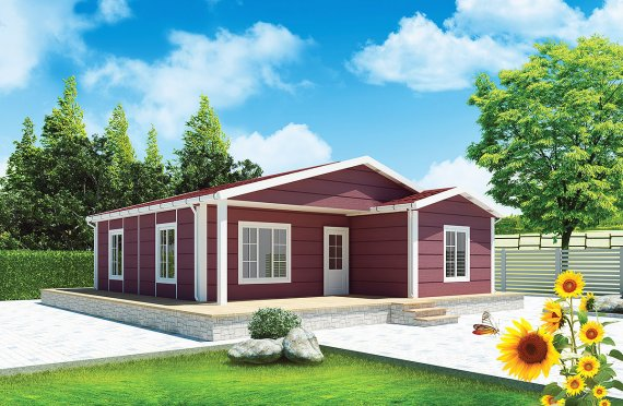 Casă Prefabricată 88 m²