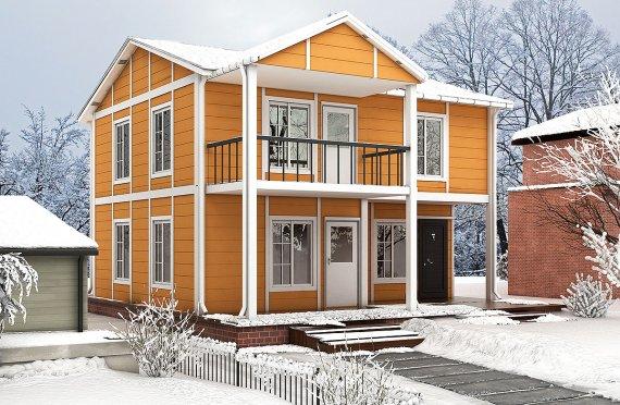 Casă Prefabricată 112 m²