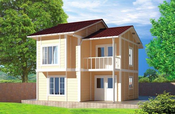 Casă Prefabricată 91 m²