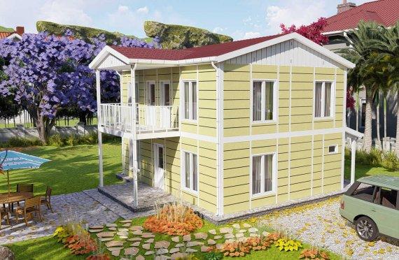 Casas Pré-fabricadas de 128 m2 com Estética Apurada
