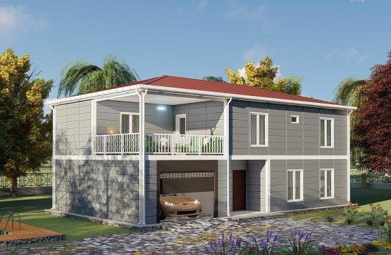 Casas Pré-fabricadas de 206 m2 com Varanda