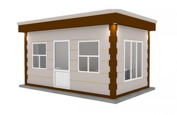 Cabină Modernă Prefabricată 300x500