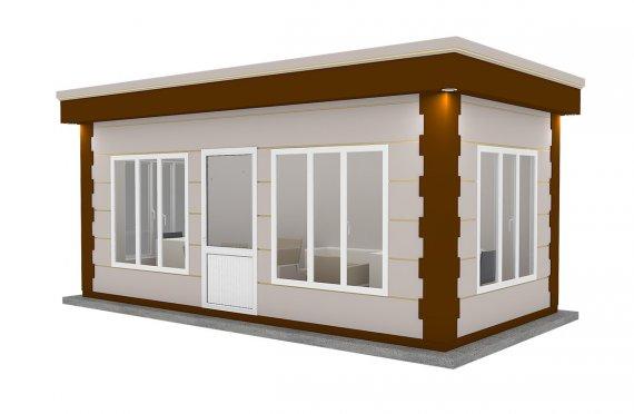 Cabină Modernă Prefabricată 300x600