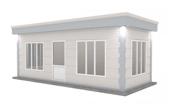Cabină Modern Prefabricată 300x700