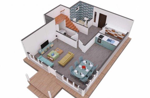 Duplex Pré-fabricado com Aspeto Clean, 126m2
