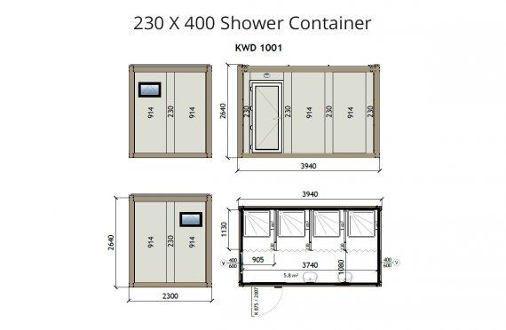 KW4 230X400 Container de Duș