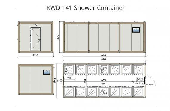 KWD 141 Container de Duș