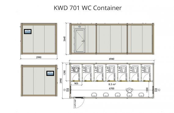 KWD 701 Container Wc