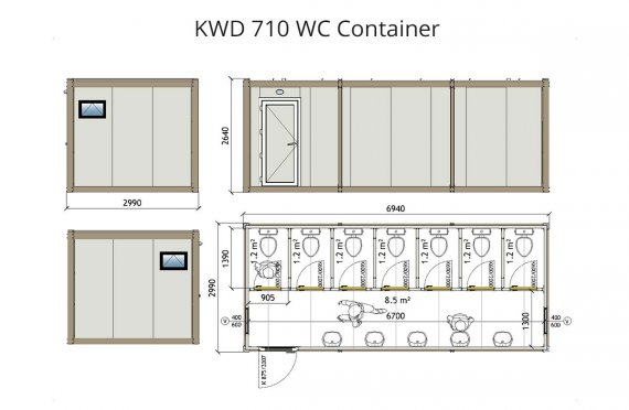 KWD 710 Container Wc