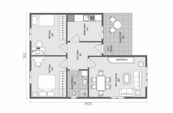 73 m2 Case Modulare la Munte