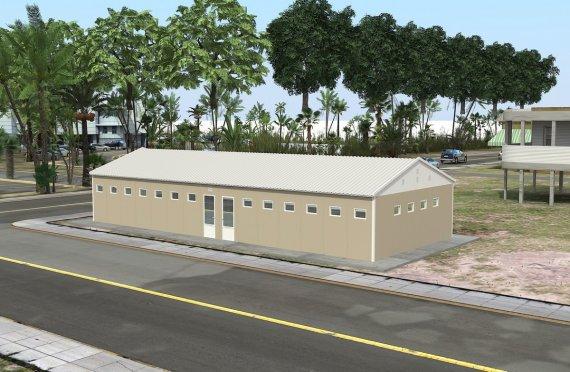 Toaletă Prefabricată și Clădere Duș 145 m²