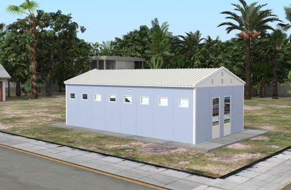 Toaletă Prefabricată și Clădire de Duș 52 m²