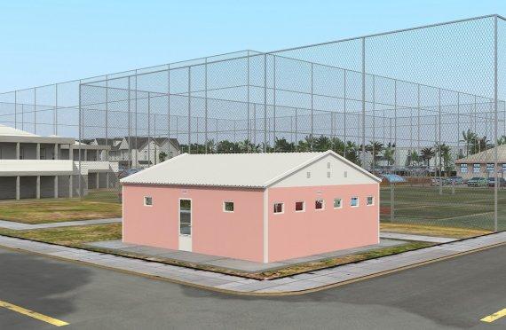 Toaletă Prefabricată și Clădire de Duș 70 m²