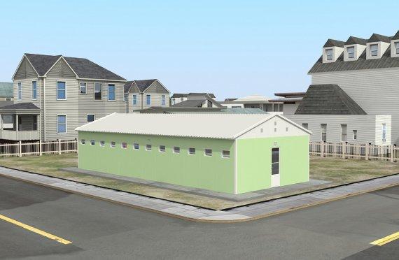 Toaletă Prefabricată și Clădere Duș 97 m²