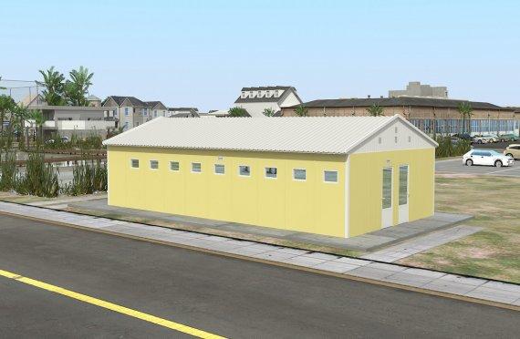 Toaletă Prefabricată și Clădere Duș 82 m²