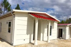 Amenajarea clădirii prefabricate a fost finalizată